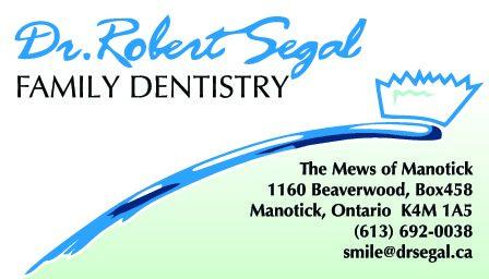 Dr. Robert Segal, Family Dentistry logo - Business in Manotick